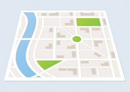 도로 및 건물을 보여주는 도시지도 스톡 콘텐츠 - 43284970