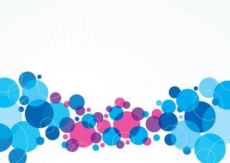 Un resumen de diseño de fondo azul y púrpura con los círculos Foto de archivo - 48130519