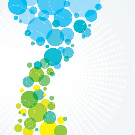 원 파란색과 녹색 추상적 인 배경 디자인 스톡 콘텐츠 - 48130527