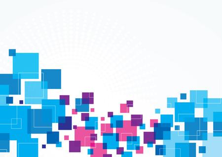 cuadrados: Un azul y verde abstracto Diseño de fondo con los cuadrados