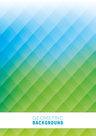 green backgrounds: A geometric abstract background design in blue and green