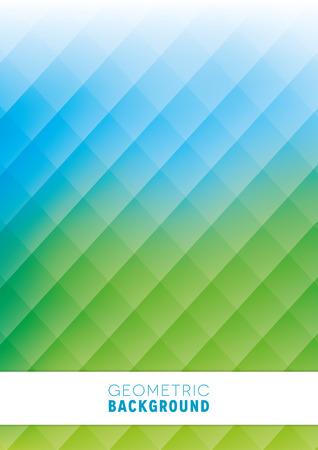 fondos azules: Un diseño geométrico abstracto fondo en azul y verde Vectores