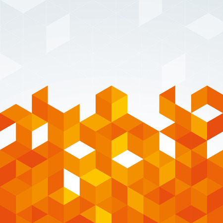 orange abstract: An orange abstract geometric design with triangles Illustration
