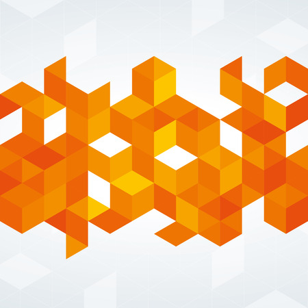 background orange: An orange abstract geometric design with triangles Illustration