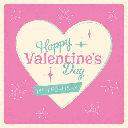 adore: Retro design with a Valentines Day theme Illustration
