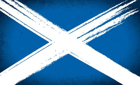 scottish flag: Scottish Saltire Bandiera Grunge Vettoriali