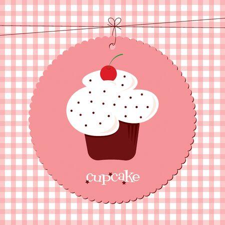 red velvet: A red velvet cherry cupcake with sprinkles