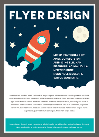 space rocket: A space rocket themed design template