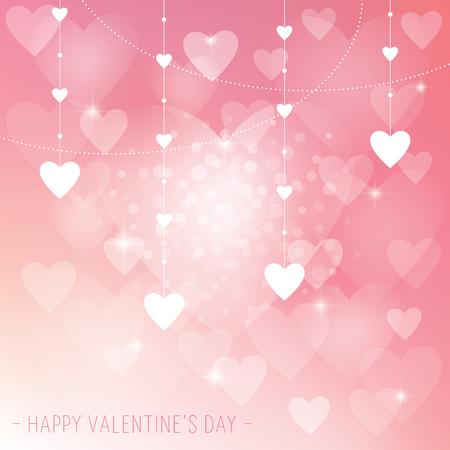Ein abstrakter Vaentineâ ? ? s Day Hintergrund mit Liebesherzen