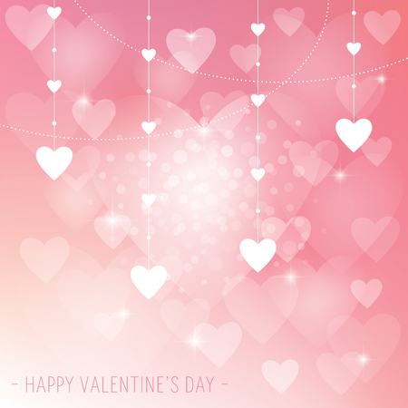 An abstract Vaentine's Day Background with love hearts Illustration