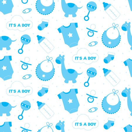 Of blue toys and objects for a baby boy