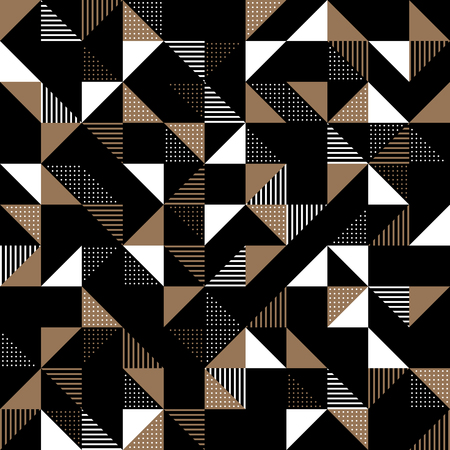decorate: A modern geometric background design in gold and black