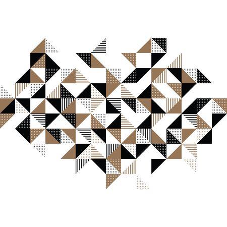 ゴールドとブラックのモダンな幾何学的背景デザイン