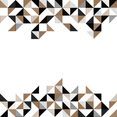 A modern geometric background design in gold and black