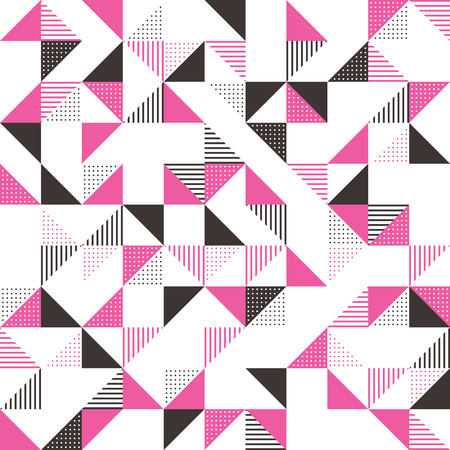 ピンクとダークグレーのモダンな幾何学的背景デザイン