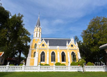 ayuttaya: Chapel gothic style in Ayuttaya, Thailand