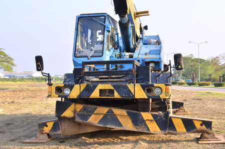 loader: Backhoe loader Stock Photo