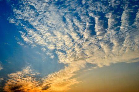 Evening sky, Bangkok, Thailand photo