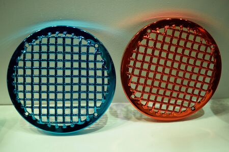 glare: Glare of round steel grating Stock Photo