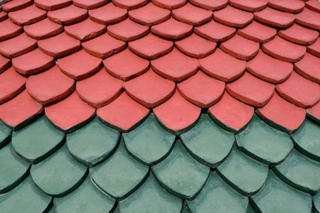 shingle: Background Red and Green Tile Patterns
