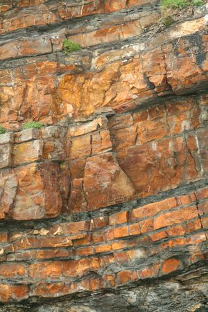 stratigraphy: Cliff face Stock Photo