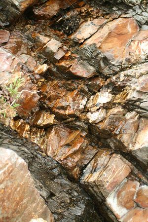 stratigraphy: Rock Stock Photo