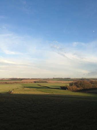 warren: Morning view across Kingston Warren Stock Photo