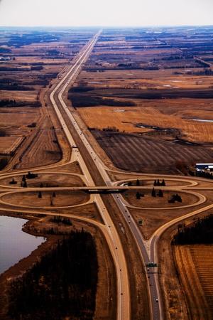 공중 고속도로 인터체인지