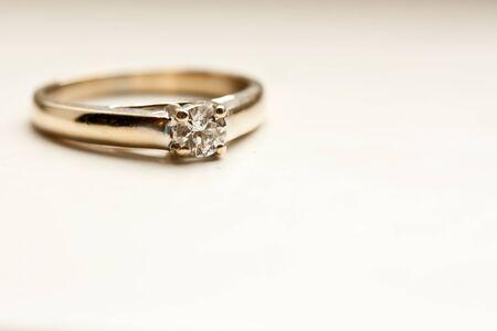 Beautiful Diamond Ring Stock Photo