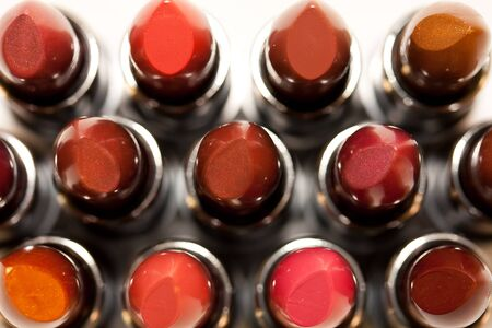 Lipsticks From Above Stock Photo