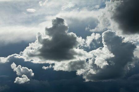 dark and menacing storm clouds in the sky