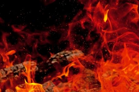 불꽃과 타오르는 캠프 파이어