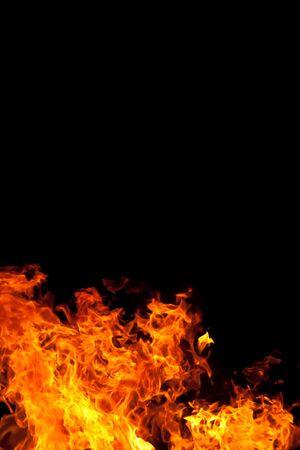 블랙 backgound에 대한 화재 스톡 콘텐츠