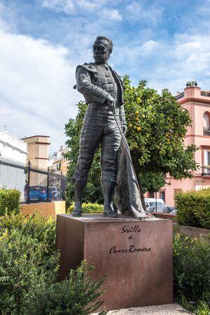 matador: Statue of Matador, Plaza de Toros de la Real Maestranza