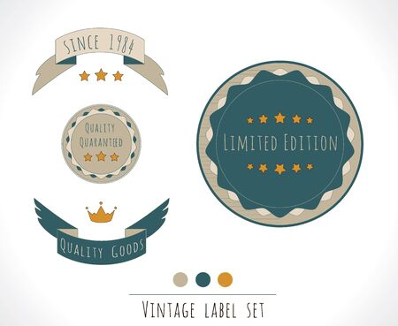 Quality vintage label set Stock Vector - 16082457