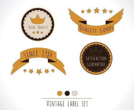 Quality vintage label set Illustration