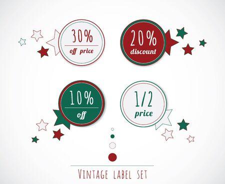 Sale vintage label set