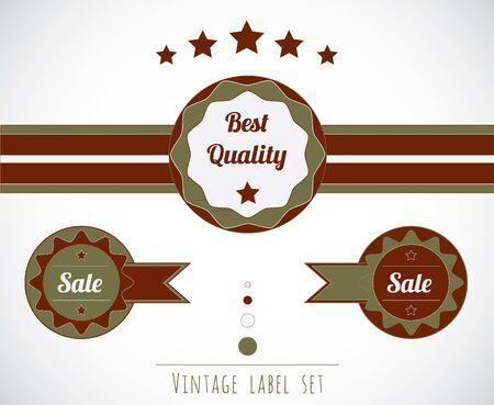 Quality sale vintage label set Stock Vector - 16082455