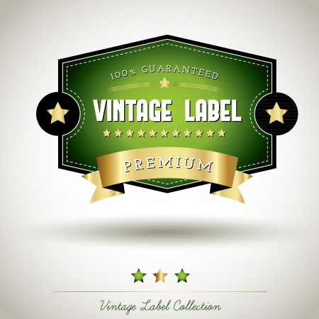 Quality vintage label collection Stock Vector - 16247361