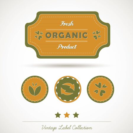 Organic Vintage Label Collection