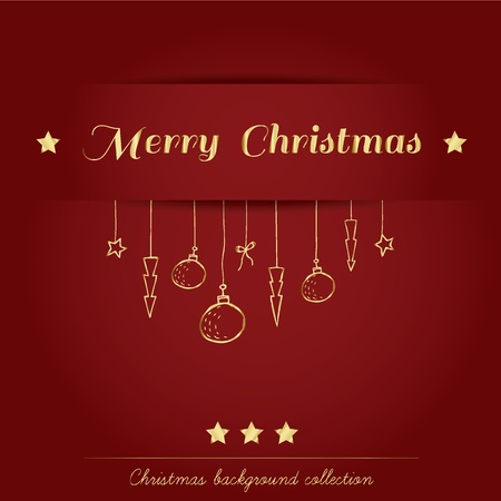 Christmas background collection Stock Vector - 16247362