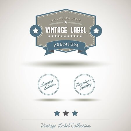 Quality vintage label collection Stock Vector - 16247360