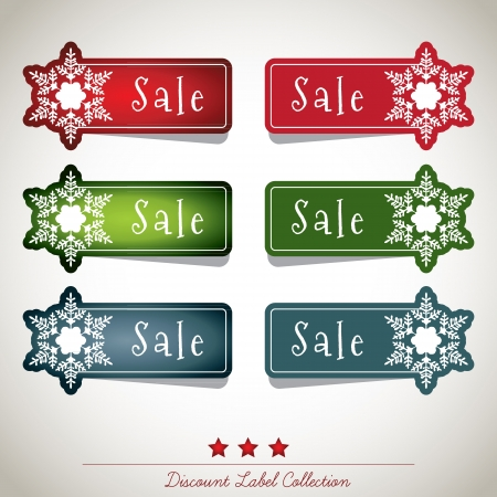 Discount Label Collection Stock Vector - 16435297