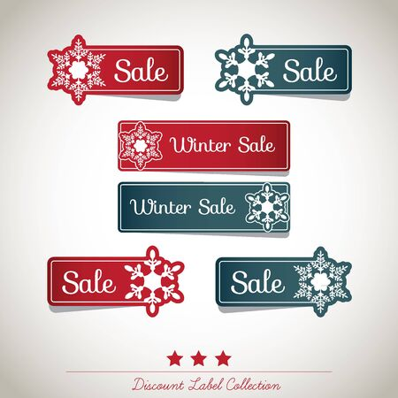 Discount Label Collection Stock Vector - 16435296