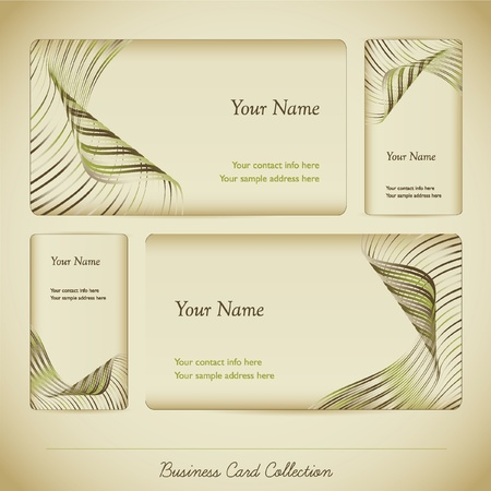 Business Card Collection Illustration