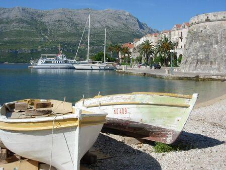Boats of Korcula, Croatia
