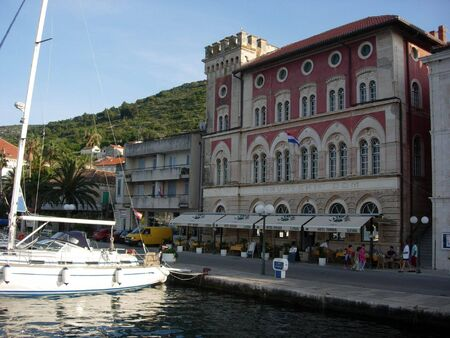 Vis Town Harbor, Croatia