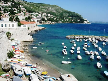 Old Town Harbor, Dubrovnik, Croatia photo