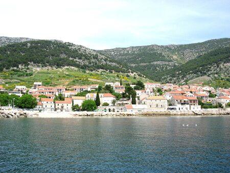 Bol, Island of Brac, Croatia Banco de Imagens