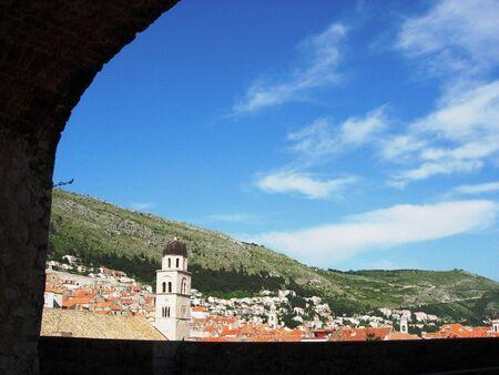 View of Old Town Dubrovnik Croatia Banco de Imagens